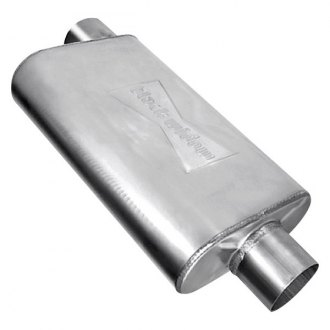"Black Widow® - Venom 250 Series Stainless Steel Oval Exhaust Muffler (2.5"" Center ID, 2.5"" Center OD)"
