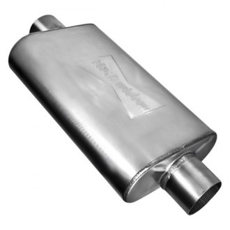 "Black Widow® - Venom 250 Series Stainless Steel Oval Exhaust Muffler (3"" Center ID, 3"" Center OD)"