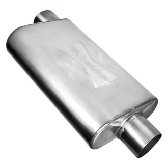 "Black Widow® - Venom 250 Series Oval Exhaust Muffler (3"" Side ID, 3"" Center OD)"