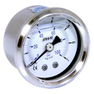 Blackworks Racing® - Liquid Filled Fuel Pressure Gauge