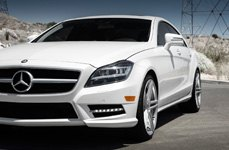 BLAQUE DIAMOND® - BD-6 Silver with Polished Face on Mercedes CLS550