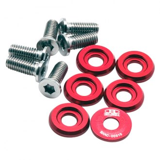 Blox Racing® - Red Fender Washers Kit, Large Diameter