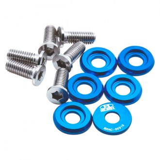 Blox Racing® - Blue Fender Washers Kit, Small Diameter