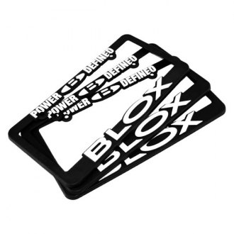 Blox Racing® - License Plate Frame with White Logo
