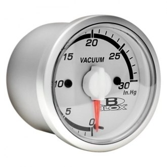 Blox Racing® - In-Dash White Face Gauge