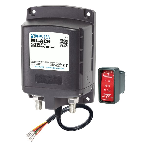 Blue Sea Systems® - ML-ACR 500A 12V DC Automatic Charging Relay