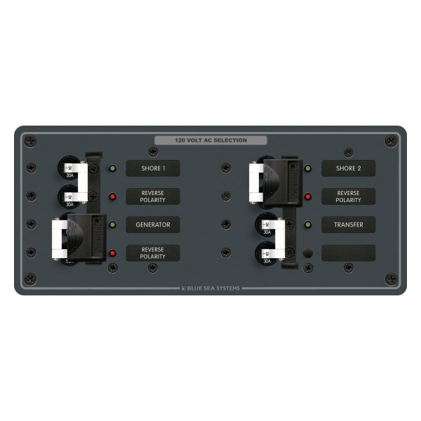blue sea systems 174 8498 3 sources with transfer 120vac source selection circuit breaker panel