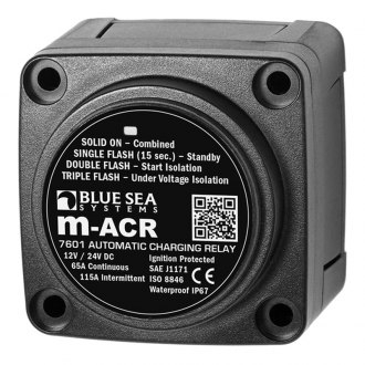 Blue Sea Systems® - 12/24V DC 65A M-Series Automatic Charging Relay