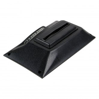 B&M® - Black Textured Shifter Cover for Quicksilver Console