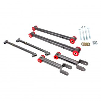 BMR Suspension® - Non Adjustable Rear Control Arm Kit with Polyurethane Bushings