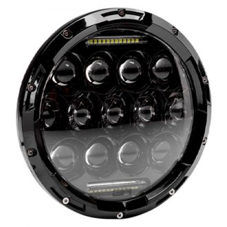 "Body Armor® - 7"" Round Black Projector LED Headlight"
