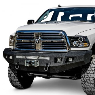 Body Armor® - ECO-Series Full Width Black Front Winch HD Bumper