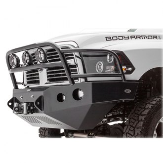 Body Armor® - PRO-Series Mid Width Front HD Winch Bumper with Grille Guard