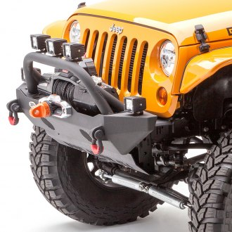 Body Armor® - Mid Width Front HD Winch Bumper with Hoop