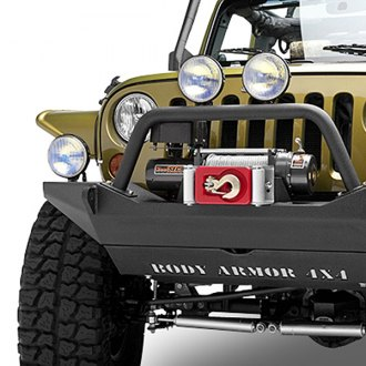 Body Armor® - Stubby Front HD Winch Bumper with Hoop