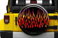 Boomerang® Flames Tire Cover