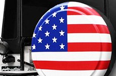 Boomerang® American Flag Tire Cover