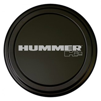 "Boomerang® - 35"" MasterSeries™ Black Spare Tire Cover with Black Powder Coated SS Ring and Hummer H2 Logo"