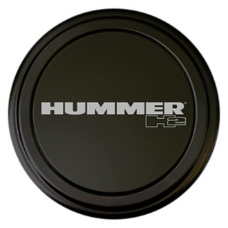 "Boomerang® - 35"" MasterSeries™ Black Spare Tire Cover with Painted to Match SS Ring and Hummer H2 Logo"