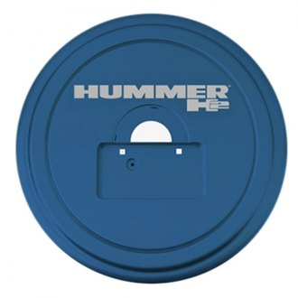 "Boomerang® - 35"" MasterSeries™ All Terrain Blue Spare Tire Cover with Painted to Match SS Ring and Hummer H2 Logo"