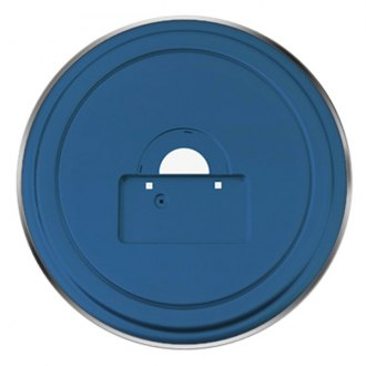 "Boomerang® - 35"" MasterSeries™ All Terrain Blue Spare Tire Cover with Polished SS Ring"