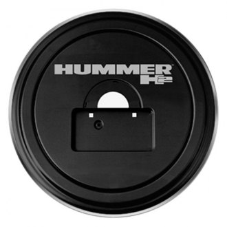 "Boomerang® - 35"" MasterSeries™ Black Spare Tire Cover with Polished SS Ring and Hummer H2 Logo"