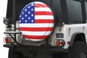 Image may not reflect your exact vehicle! Boomerang® - Rigid Series American Flag Tire Cover