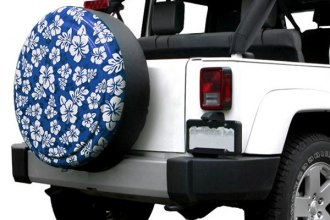 "Boomerang® - Rigid Series Blue and White Hawaiian Print Tire Cover (29/30"")"
