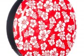"Boomerang® - 27"" Rigid Series Hawaiian Red and White Print Tire Cover"
