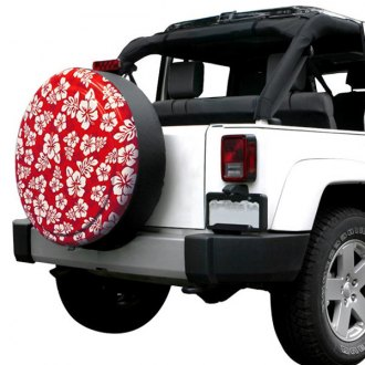 "Boomerang® - 29/30"" Rigid Series Hawaiian Red and White Print Tire Cover"
