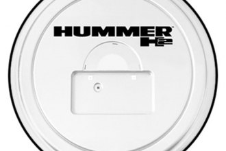Boomerang® RG-HLP-WH-H2 - Rigid Series White Tire Cover with Logo and License Plate Pocket