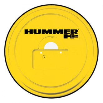"Boomerang® - 35"" Rigid Series™ Yellow Spare Tire Cover with License Plate Pocket and Hummer H2 Logo"