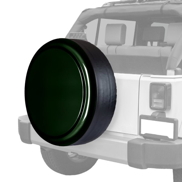 "Boomerang® - Rigid Series Black Forest Green Pearl Tire Cover w/o Oscar Mike Logo (30"")"
