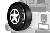 "Boomerang® - Rigid Series Unpainted black ABS faceplate Tire Cover with Oscar Mike Logo (30"")"