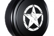 "Boomerang® - 32"" Rigid Series Unpainted black ABS Faceplate Tire Cover with Oscar Mike Logo"