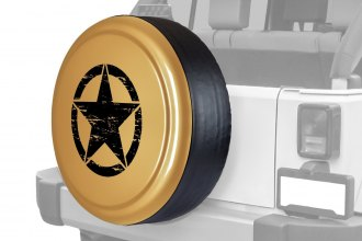 "Boomerang® RG-OM32-D - Rigid Series Dune Tire Cover with Oscar Mike Logo (32"")"