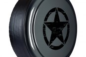 "Boomerang® - 32"" Rigid Series Dark Charcoal Pearl Tire Cover with Oscar Mike Logo"