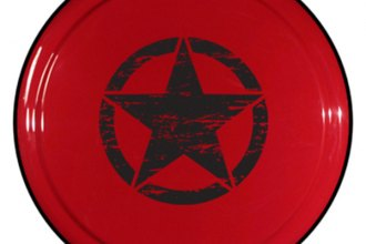 "Boomerang® - Rigid Series Flame Red Tire Cover with Oscar Mike Logo (32"")"