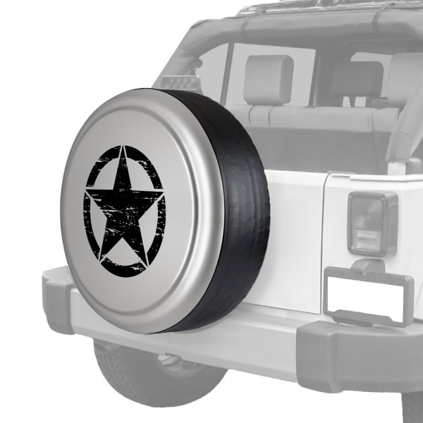 "Boomerang® - Rigid Series Light Graystone Pearl Tire Cover with Oscar Mike Logo (32"")"