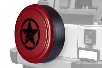"Boomerang® - Rigid Series Red Rock Crystal Pearl Tire Cover with Oscar Mike Logo (32"")"