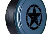 "Boomerang® - 32"" Rigid Series Steel Blue Metallic Tire Cover with Oscar Mike Logo"