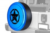 "Boomerang® - Rigid Series Surf Blue Pearl Tire Cover with Oscar Mike Logo (32"")"