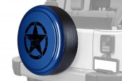 "Boomerang® - Rigid Series True Blue Pearl Tire Cover with Oscar Mike Logo (32"")"