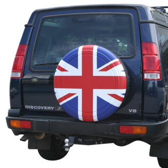 Image may not reflect your exact vehicle! Boomerang® - Rigid Series Red, White and Blue Union Jack Tire Cover (27)