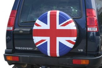 "Boomerang® - Rigid Series Red, White and Blue Union Jack Tire Cover (29/30"")"