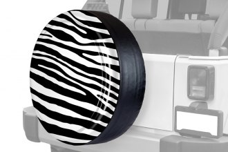 "Boomerang® - Rigid Series Black and White Zebra Print Tire Cover (29/30"")"