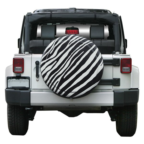 "Rigid Series Black and White Zebra Print Tire Cover (35"")"