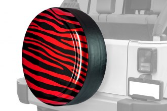 "Boomerang® RG-ZEB30-FR - Rigid Series Flame Red Zebra Tire Cover (30"")"