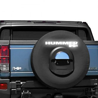 "Boomerang® - 35"" Black Reflective Spare Tire Cover with Hole for License Plate"