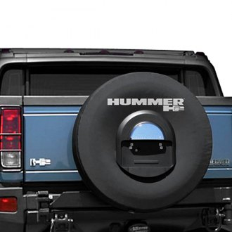 "Boomerang® - 35"" Black Non Reflective Spare Tire Cover with Hole for License Plate"